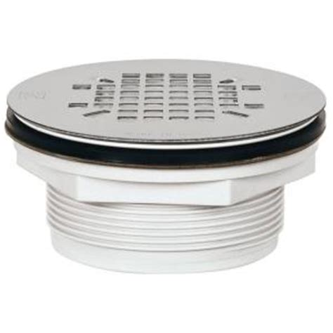 sioux chief 2 in pvc shower drain with strainer 828 2pk the home depot