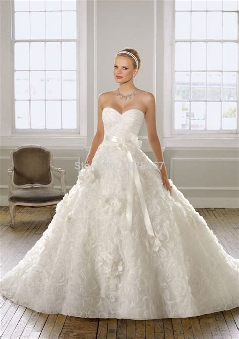 flower design wedding dresses free shipping luxury korean wedding dress ball gown