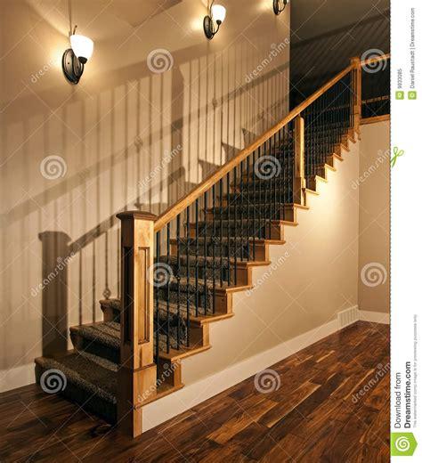 New Home Stairway stock image. Image of carpet, balcony