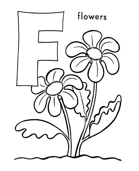 preschool coloring pages letter f abc pre k coloring activity sheet f is for flowers