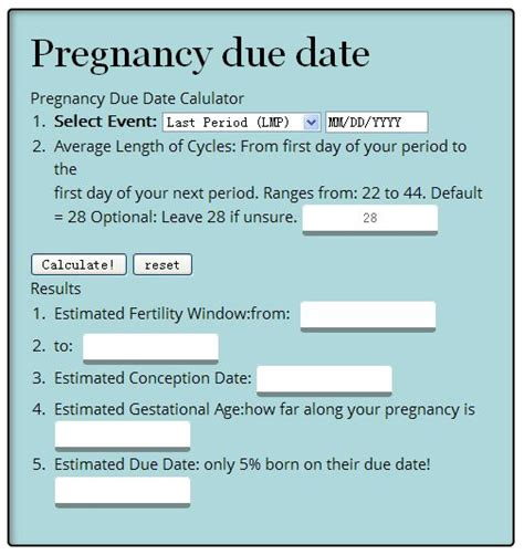 due date calculator the 25 best calculate your due date ideas on due date of pregnancy