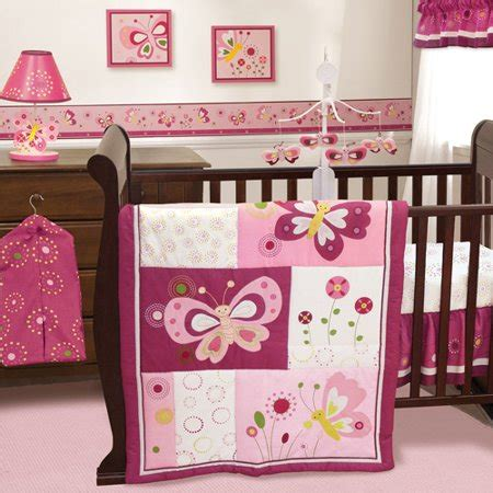 butterfly nursery bedding set bedtime originals by lambs pink butterfly 3 crib bedding set walmart
