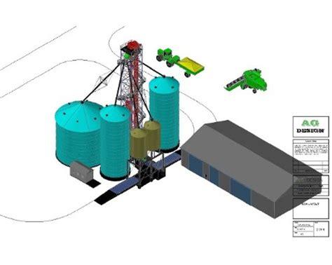 layout bin grain elevator grain handling equipment design services