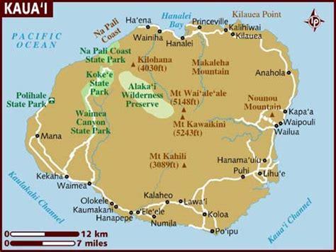 printable map kauai map of kauai