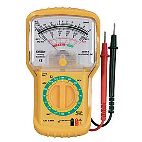 extech 38073 mini analog multimeter 300vac dc 250madc 6