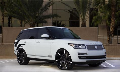 modified range rover sport custom lz 109 on the 2014 range rover hse lexani wheels