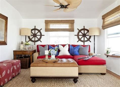 nautical themed living room nautical decor ideas enhanced by vintage ship wheels and