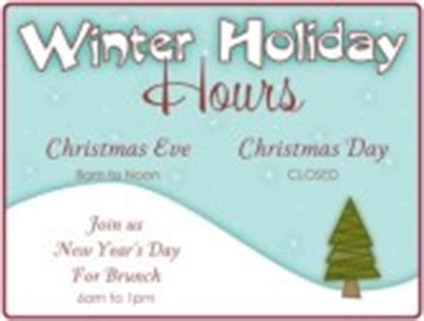 Winter Holiday Hours Flyer Thanksgiving Business Hours Template
