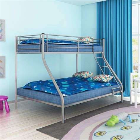 Grey Metal Bunk Beds Vidaxl Children S Bunk Bed 200x140 200x90 Cm Metal Grey Vidaxl Co Uk