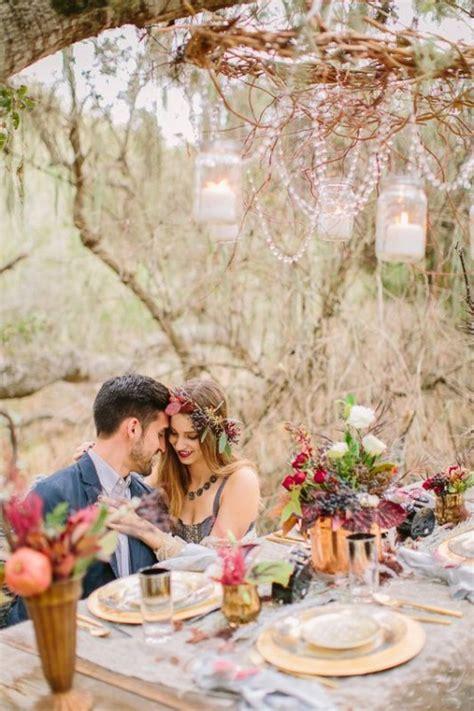Boho Wedding Concept by 44 Dreamy Woodland Boho Chic Wedding Tips Decor Advisor