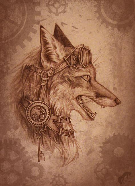 animal tattoo wallpaper steunk fox by greenamb on deviantart