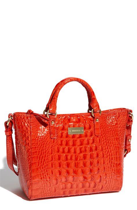 Ready Toryburch Backpack Croco Embossed Mini brahmin arno mini croc embossed patent tote in animal firecracker lyst