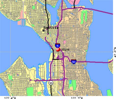 seattle map with zip codes zip code seattle washington map