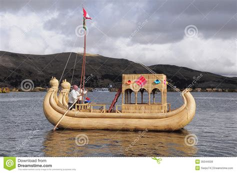 Handmade Boat - indians sail by the handmade boat editorial stock image