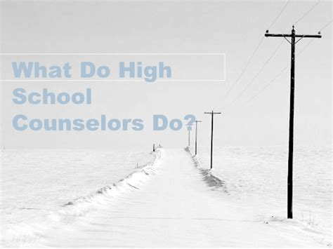 what do school counselors do what do high school counselors do 10 2006