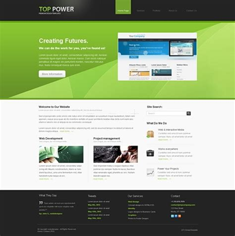 toppower 3d html template 3d templates website