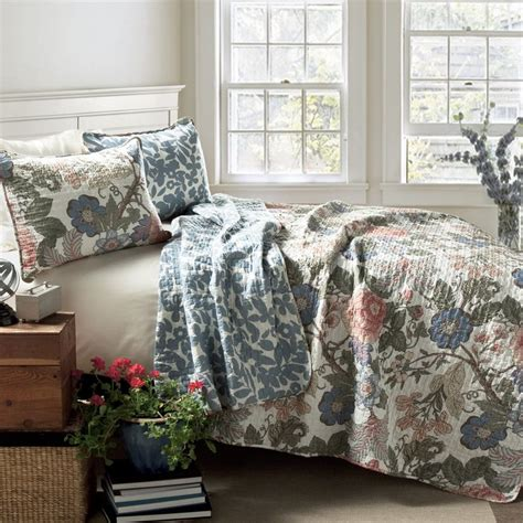 Blue King Quilt by Shop Lush Decor Sydney 3 Green Blue King Quilt Set