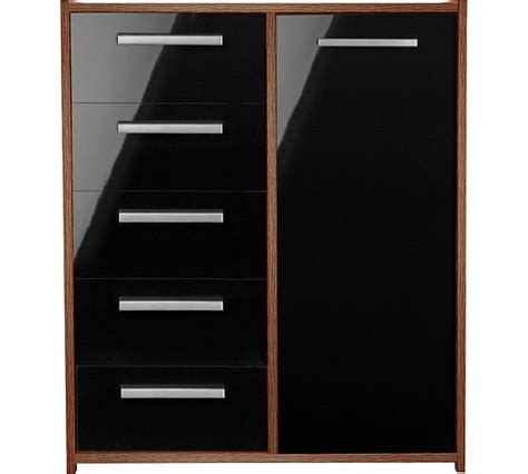Sywell Bedroom Furniture Buy Home New Sywell 5 Drw 1 Dr Chest Walnut Effect And Black At Argos Co Uk Your Shop