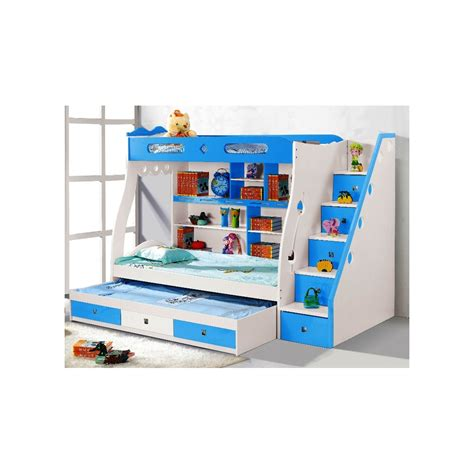 furniture wood kids bunk bed with storage drawers