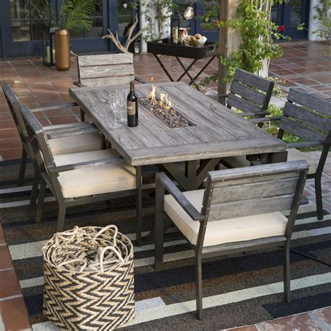 outdoor dining patio furniture 25 best ideas about pit table on outdoor