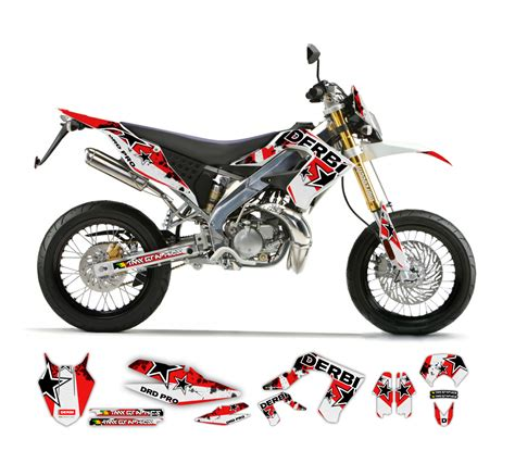 kawasaki kmx 125 dekor derbi drd pro black graphics series tmx graphics