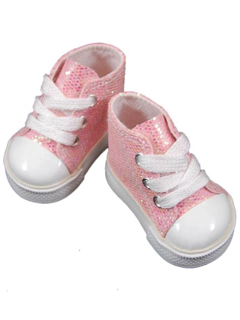 american doll shoes pink high top sneakers shoes for 18 quot american 168 doll