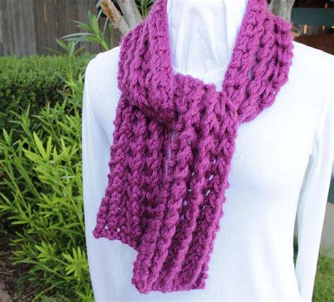 knitting ridges knit ridges chunky scarf by kimberleeg craftsy