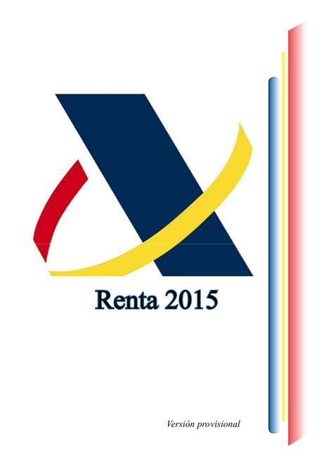 Renta Y Patrimonio 2015 Bizkaiaeus | manual declaraciones renta y patrimonio 2015 version