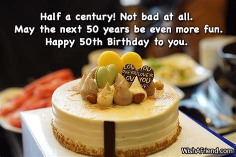 Happy Fifty Birthday Wishes 50th Birthday Wishes