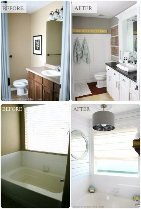 bathroom makeover before and after before and after 20 awesome bathroom makeovers hative