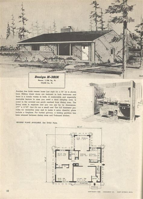 1950s house floor plans 1950 ranch house plans lovely vintage house plans mid