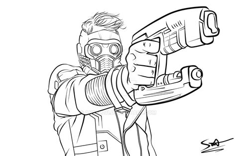 star lord coloring page star lord lineart by angelz11 on deviantart