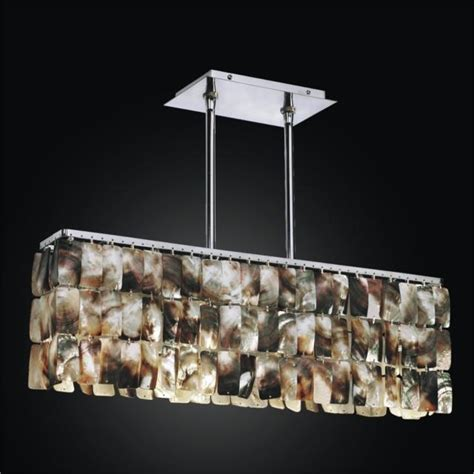 Rectangular Shaped Chandeliers Rectangular Shaped Of Pearl Shell Chandeliers Shades Glow 174 Lighting