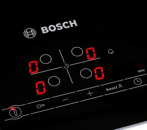 bosch electric induction hob buy bosch pia611b68b electric induction hob black free delivery currys