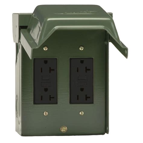 the backyard outlet ge 2 20 amp backyard outlet with gfci receptacles