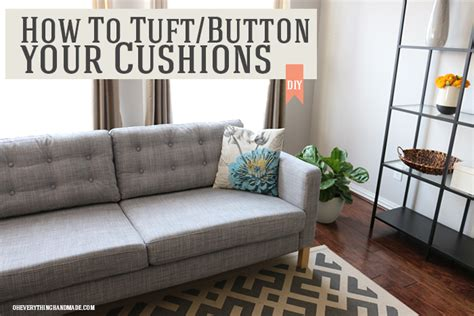 ikea hack couch how to tuft button your ikea karlstad cushions oh