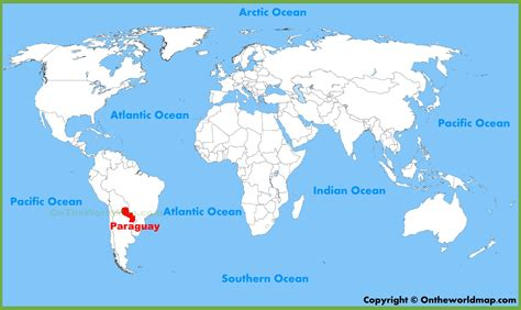 paraguay world map paraguay location on the world map
