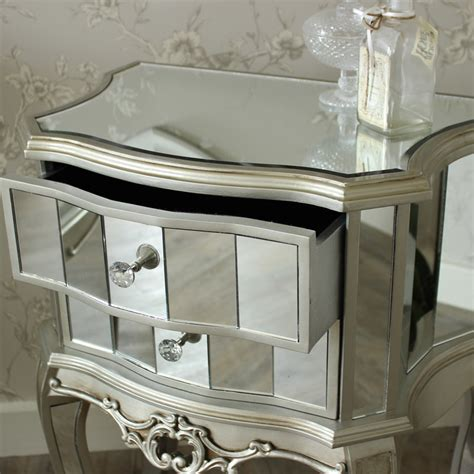 mirrored bedroom furniture mirrored furniture set wardrobe chest bedsides bedroom