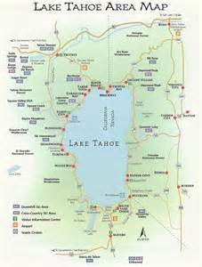 lake tahoe map lake tahoe rentals