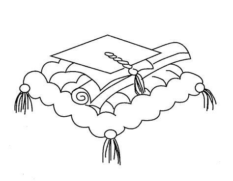 graduation cap coloring page az coloring pages