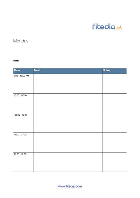 7 day diary template calendar template 2016