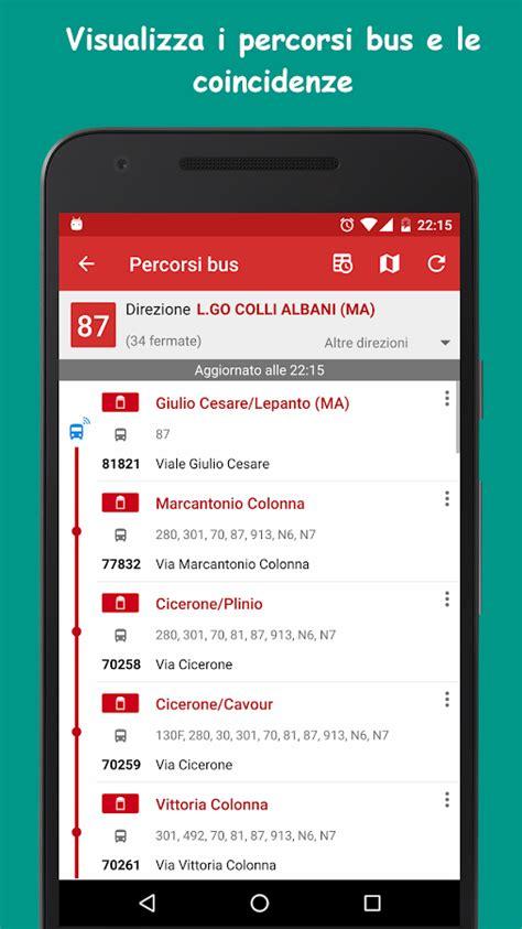 tempi di attesa atac mobile probus roma autobus orari atac app android su play