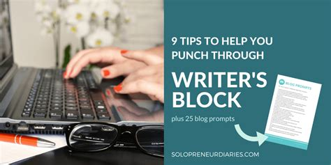 9 sneaky tips to help 9 tips to help you punch through writer s block solopreneur diaries