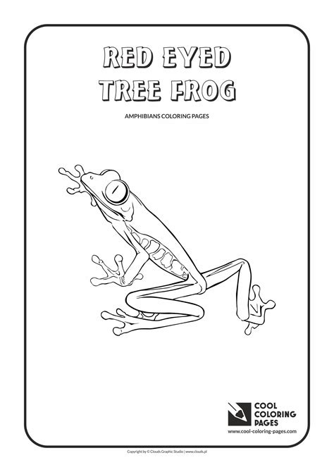 Amphibians And Reptiles Coloring Pages Cool Coloring Pages Eyed Tree Frog Coloring Page