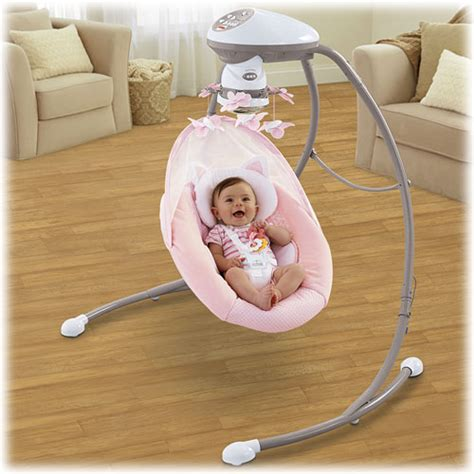 fisher price baby girl swing my little snugakitty cradle n swing
