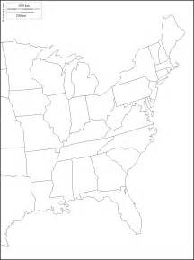 blank map east coast united states
