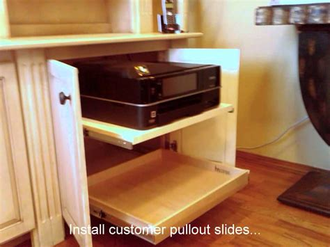 hide printer hide your printer below your counter with custom pullout