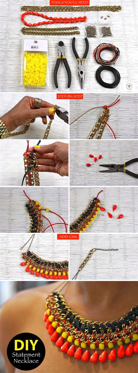 diy tutorials diy statement necklace frugal nomics
