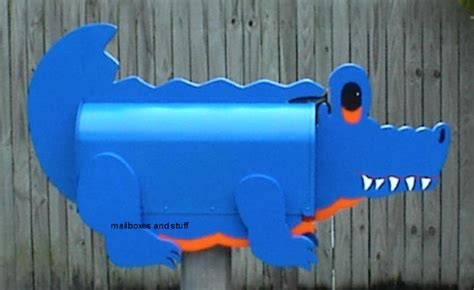 whimsical alligator mailbox and crocodile mailboxes