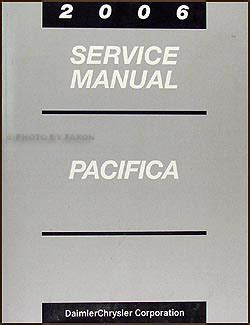 2006 chrysler pacifica repair shop manual original